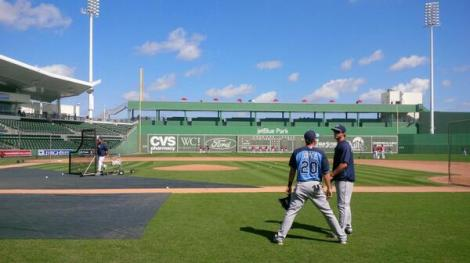 SUN PHOTO BY JOSH VITALE VIA TWITTER Fenway Park South: JetBlue Stadium in Fort Myers.