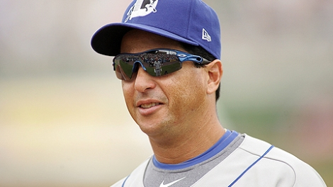 New Rays third base coach Charlie Montoyo with Durham. Photo courtesy MiLB.com.